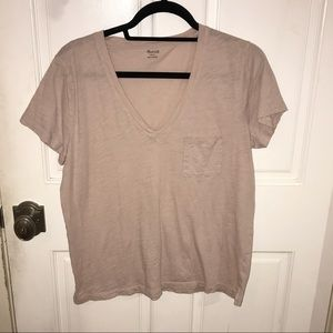 Madewell Whisper Tee in Light Pink/Nude
